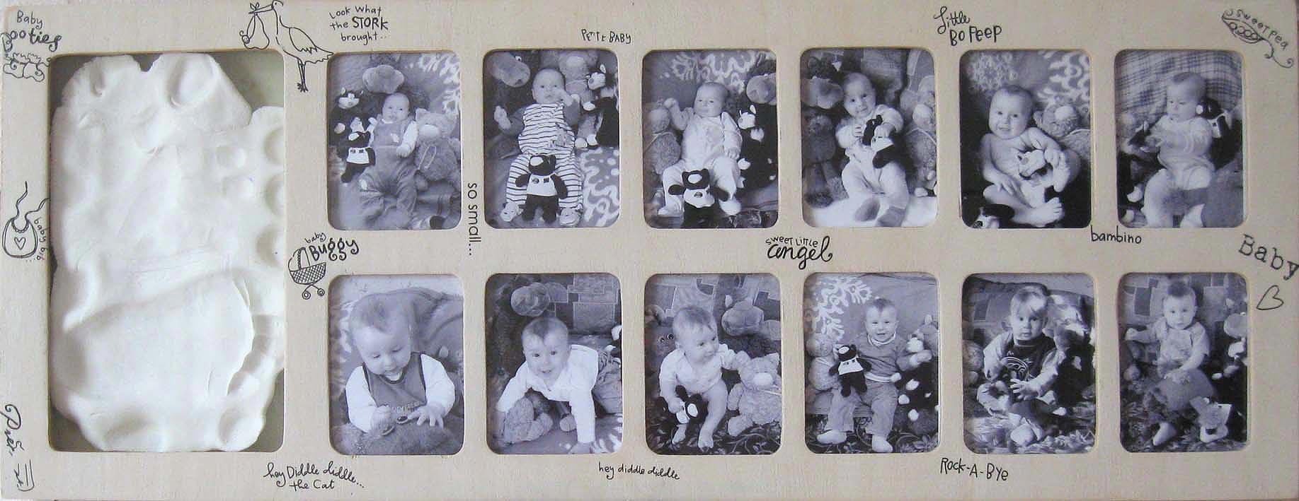 Фоторамка на 12 фото ребенка