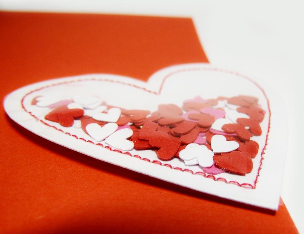 Маленькая открытка сердечко 11