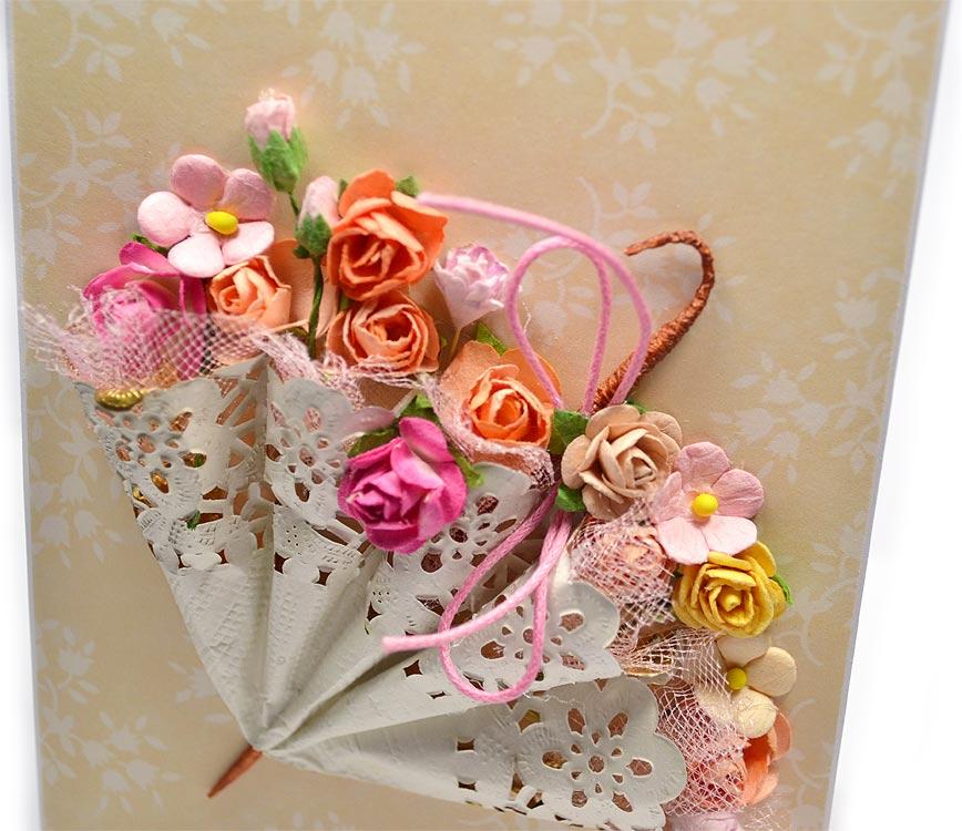 Открытки своими руками зонтик с цветами